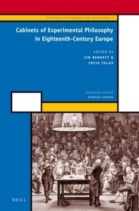 Cabinets of Experimental Philosophy in Eighteenth-Century Europe