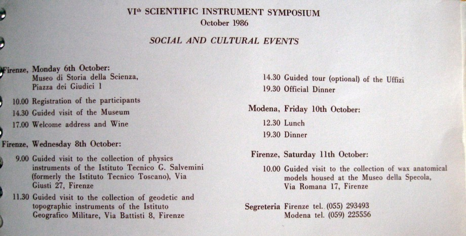 VI Scientific Instrument Symposium